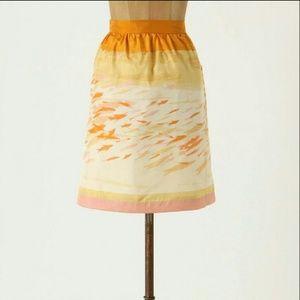 We heart vera anthropologie goldfish skirt 10 RARE